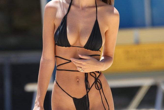 Emily Ratajkowski in a Micro Thong Bikini