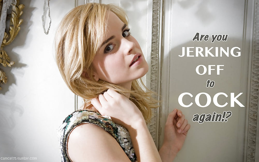 Emma Watson - Captions and Jerk Off Instructions