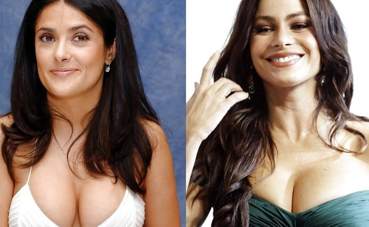 Salma Hayek and Sofia Vergara tits battle
