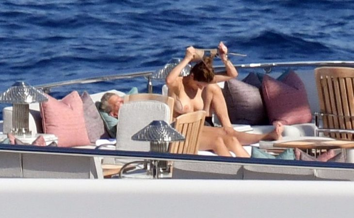 Katharine McPhee caught Topless in  Italy