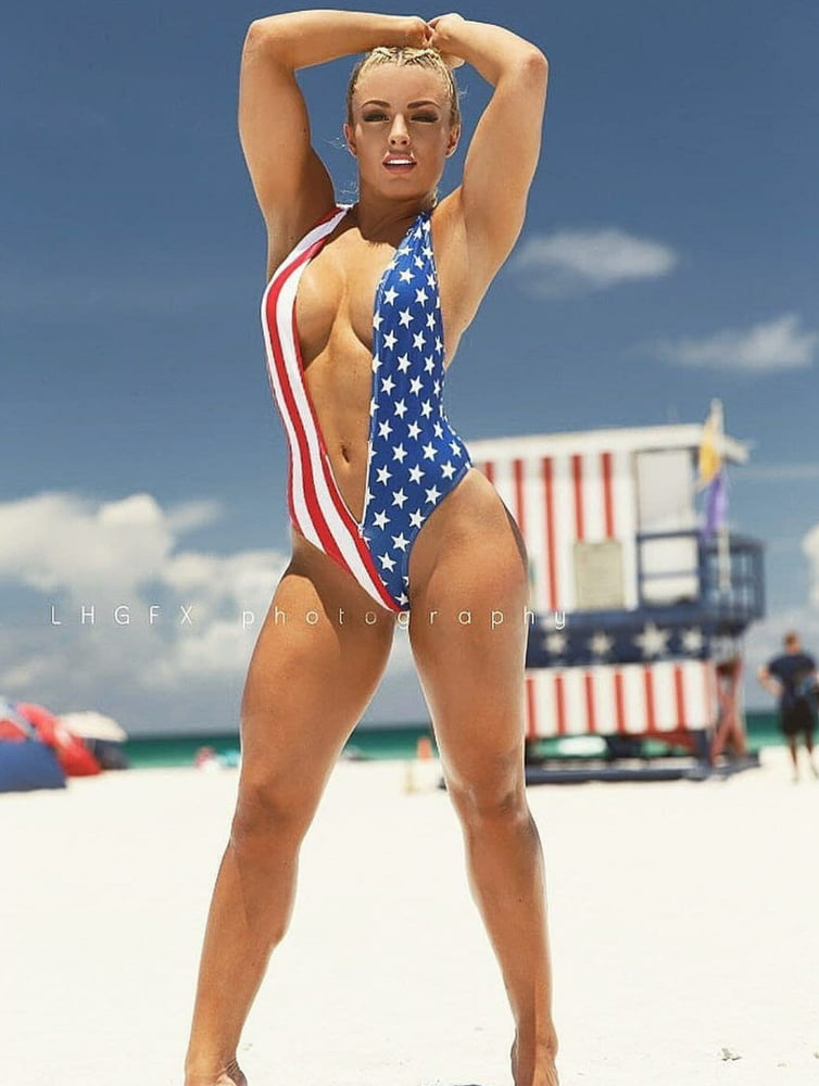 WWE Star Mandy Rose 4th Of July Ass